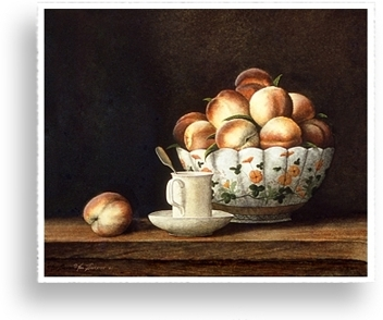 Tea and Peaches by Ken Johnston